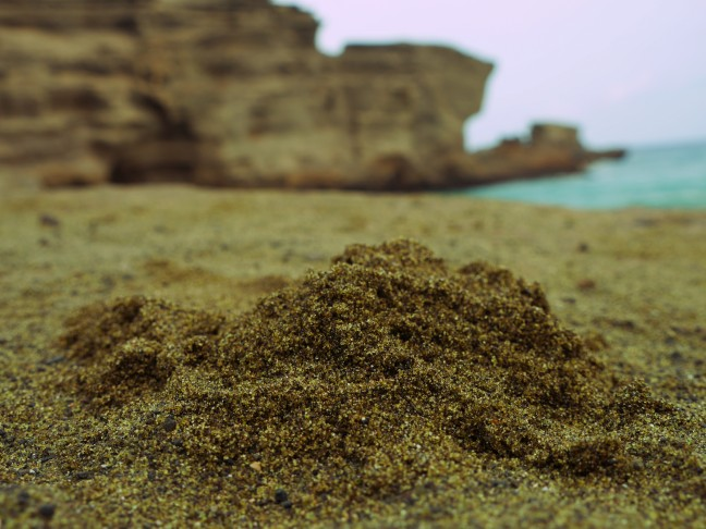 green sand at mahana